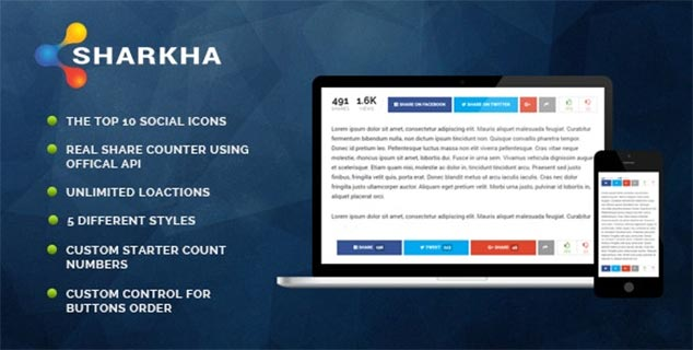 WordPress Paylaşım Eklentisi Sharkha