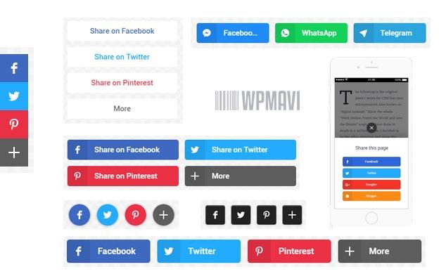 WP Sosyal Paylaşım Eklentisi - Paylaşım Butonları