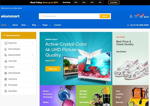 Ekommart - WordPress E Ticaret Teması