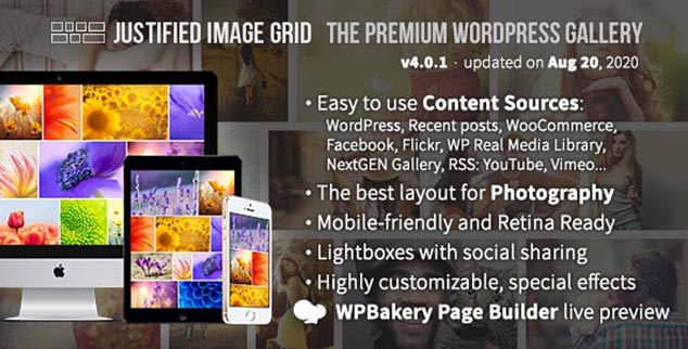 Justified Image Grid - WordPress Galeri Eklentisi