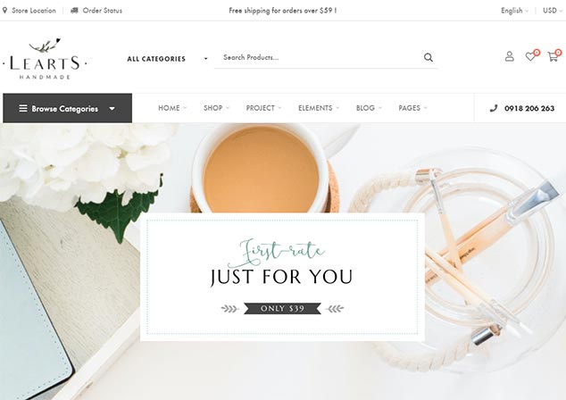 LeArts - WordPress E Ticaret Tema