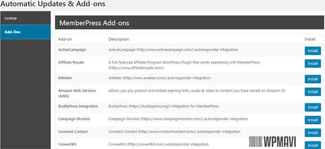 MemberPress WordPress Üye Ola Eklentisi - Ek Araçlar