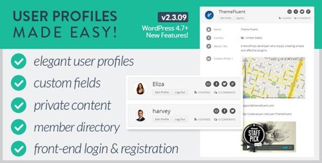 User Profiles Made Easy - WordPress Üyelik Eklentisi