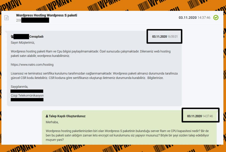 Hosting Firmaları Natro WP Hosting ram ve cpu bilgileri