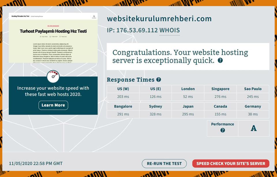 Türkiye en iyi hosting firmaları - Bitcatcha Güzelhosting Test 5