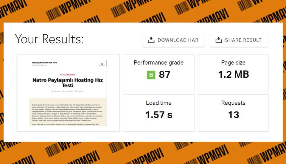 Natro Pingdom - en hızlı hosting