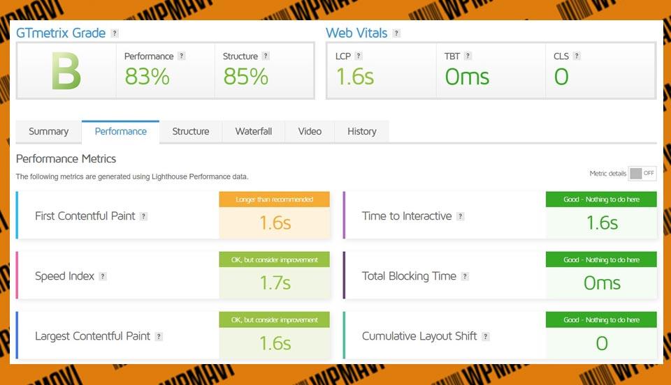 Gtmetrix Sonuçları Verigom - Hosting Firması öneri