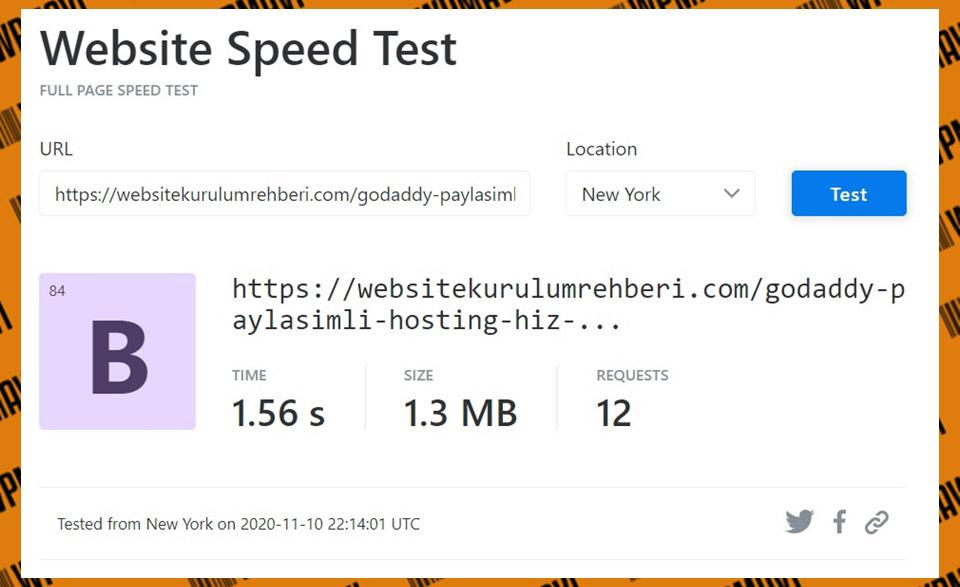 KeyCDN Godaddy Test 3 - En güvenilir hosting firmaları