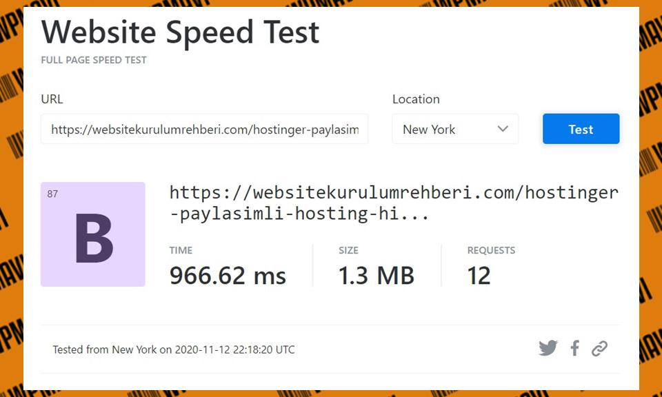 KeyCDN Hostinger Test 4 - En iyi web hosting