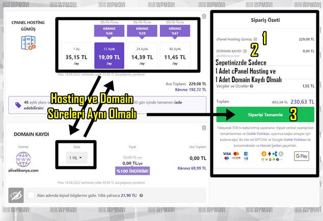 Bireysel Web Sitesi Nasıl Açılır - Hosting ve Domain Fiyat Tablosu