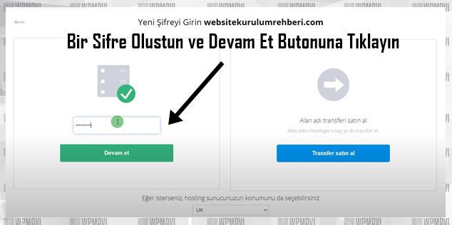 Kişisel Web Sitesi cPanel Şifresi Belirleme