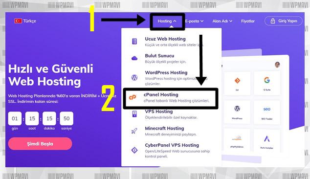 Hosting Firması Navigasyon (Kişisel Web Sitesi Nasıl Yapılır