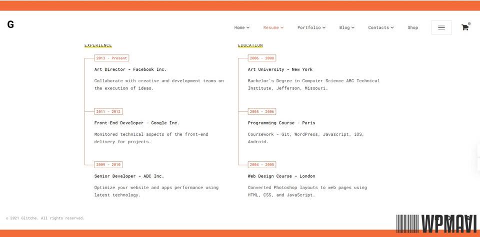 Kişisel Web Siteleri - Şablon 15