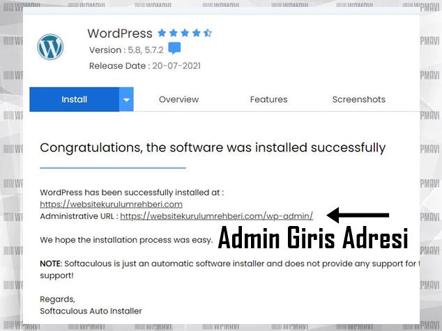 Kişisel Web Site Kurmak - WordPress Kurulumu Tamamlandı