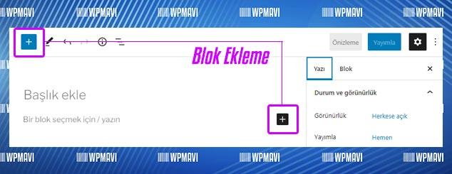 WordPress Yazı Alanına Blok Ekleme